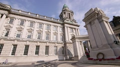 Belfast City Hall, Belfast, Northern Ireland Stock Footage