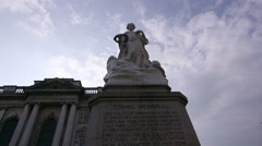 Titanic Memorial, Belfast City Hall, Belfast, Northern Ireland Stock Footage