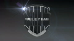Volleyball - Chrome Stock Footage