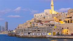 Old Jaffa Port, Tel-Aviv, Israel, Timelapse Stock Footage