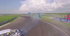 Sport Cars Drifting at Circuit Stock Footage