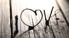 LOVE Happy Valentines day idea - stock footage