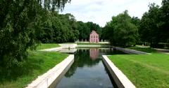 The Dutch House. Pond. Kuskovo Stock Footage