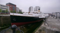 Titanic Belfast Museum. SS Nomadic Stock Footage