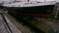 Belfast, Northern, Ireland Titanic Museum. SS Nomadic Stock Footage