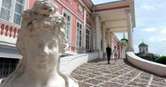 Sheremetev Palace. The main entrance. Kuskovo Stock Footage