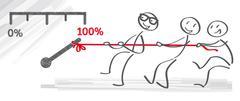 Team and motivation - stock illustration