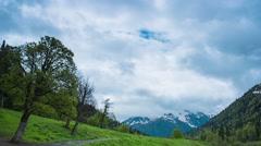 Snow peak in Caucasus mountain Stock Footage
