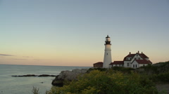 Portland Head Lighthouse Time Laspe Stock Footage