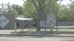 Statue of a Horse on Route 66 in Amarillo, Texas Stock Footage
