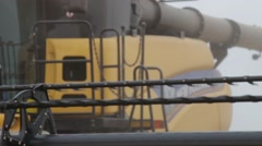 New Holland Combine Close Up Stock Footage