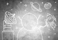 Dream to be astronaut Stock Illustration