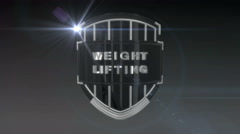 Weightlifting- Chrome Stock Footage