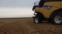 New Holland Combine SIde View  Stock Footage
