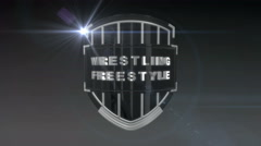Wrestling Freestyle - Chrome Stock Footage
