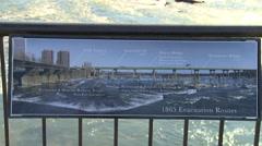 Richmond, VA Bridge and City Skyline Stock Footage
