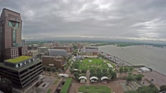 4K Time-lapse of Louisville, Kentucky skyline Stock Footage