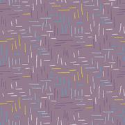 Brush stroke seamless purple dashed pattern Stock Illustration