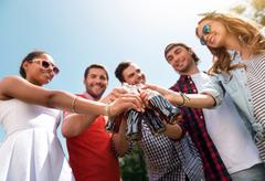 Modern youth relaxing outdoors - stock photo