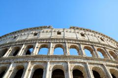 Flavian Amphitheatre or Colosseum in Rome - stock photo