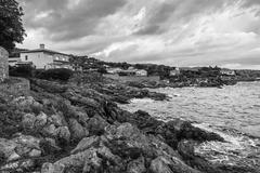Rocky coast of the Cote d'Azur, France Stock Photos