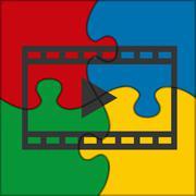 Puzzle icon video clip Stock Illustration