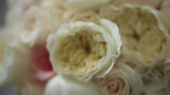 Wedding Bouquet  Close Up Stock Footage