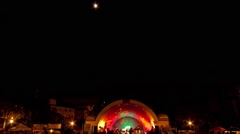 Outdoor Concert Timelapse Stock Footage