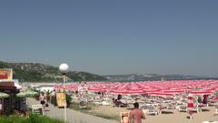 The beach in Albena. Resort Spa in Bulgaria. Stock Footage