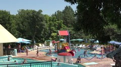 The pool at the hotel in Bulgaria. Stock Footage
