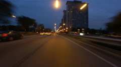 Car POV on Lakeshore Drive, Chicago, IL - stock footage