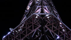 A copy of the Eiffel tower. Varna. Golden Sands. Resort in Bulgaria. Stock Footage
