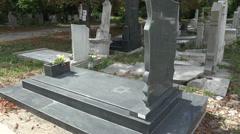 The Jewish cemetery. Varna. Bulgaria. Stock Footage
