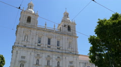 Church of Sao Vicente, Lison Stock Footage