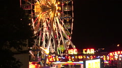 Ferris wheel in bright lights. Golden Sands. Resort in Bulgaria. Stock Footage