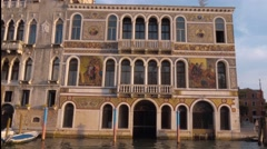 Amazing buildings along Grand Canal in Venice Stock Footage