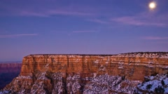 Moon Rising Over the Grand Canyon Timelapse Stock Footage