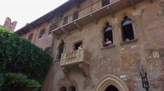 Famous Juliet s house in Verona - Casa di Giulietta Romeo and Juliet Stock Footage