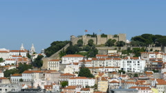 Overview of Lisbon, Sao Jorge Castle Stock Footage