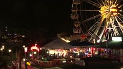 Ferris wheel in bright lights. Golden Sands. Resort in Bulgaria. Stock Footage