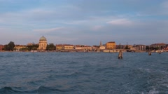 Famous Lido Island in Venice Stock Footage