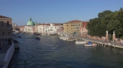 Aerial view over Canale Grande - the Grand Canal of Venice Stock Footage