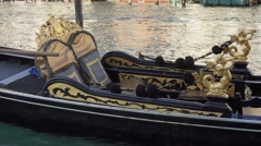 Famous Gondola service in the canals of Venice Stock Footage