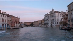 Famous Canale Grande - The Grand Canal in Venice Stock Footage