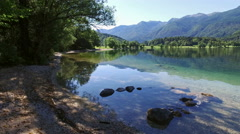 4K. Amazing Bohinj Lake in the morning. Triglav National Park, Slovenia, Europe. Stock Footage