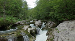Mountine river Mostnica, Slovenia Stock Footage