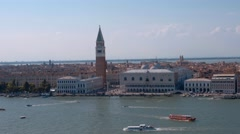 Impressive skyline of Venice historic city center Stock Footage