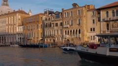 ACTV Waterbus in the city center of Venice Stock Footage
