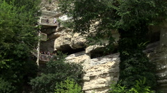 Aladzha Monastery in the mountains. Varna. Bulgaria. Stock Footage