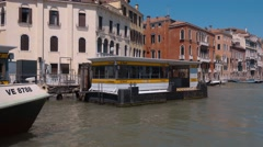 The Waterbus in the Grand Canal of Venice Stock Footage